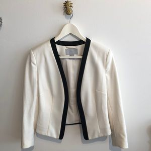 Black and white cotton blazer